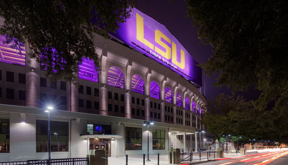 Louisiana State University - Tiger Stadium Lighting - Baton Rouge, Louisiana