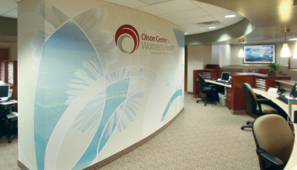 Olson Center Reception Wall Wrap