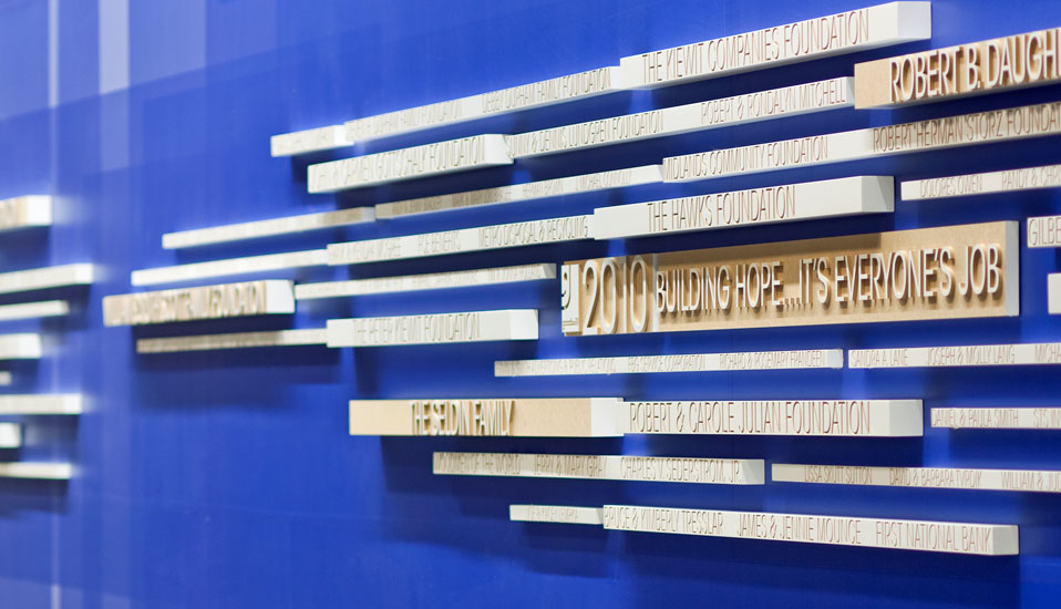 Goodwill Industries Headquarters Recognition Signage - Omaha, Nebraska