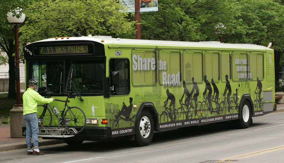 Share The Road Bus Wrap - Des Moines, Iowa