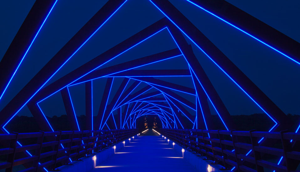 VIDEO   From Here To There: High Trestle Trail Bridge   Madrid, Iowa