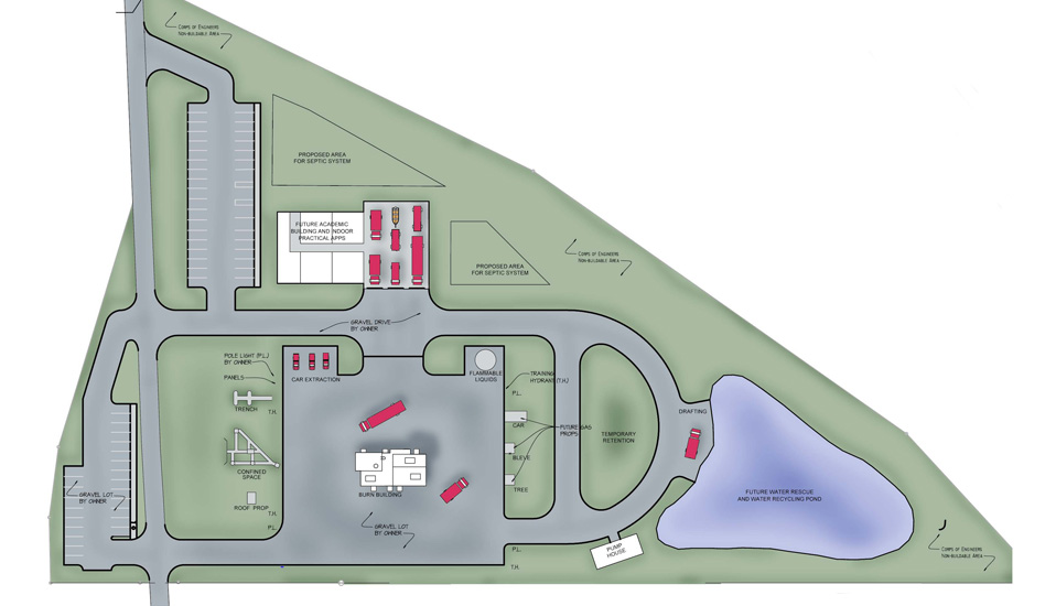 Mecklenberg County Fire Training Burn Building Facility Master Plan Rdg Planning Design