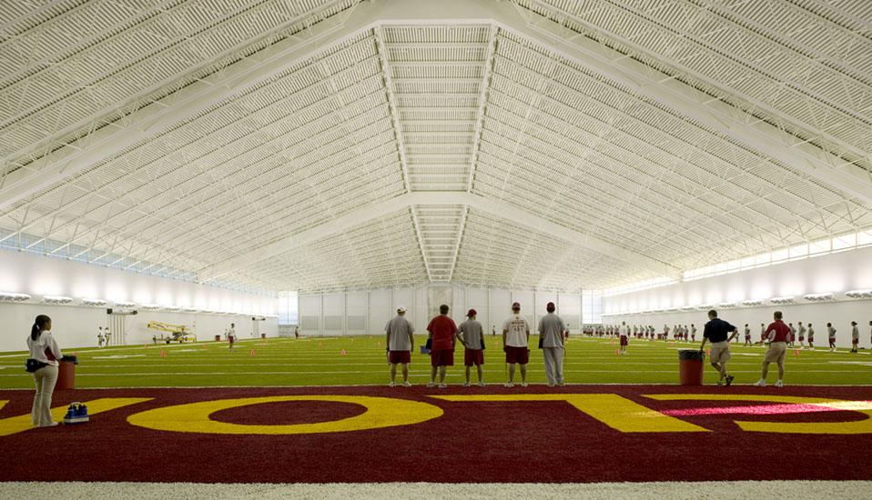 Iowa state university bergstrom indoor training facility for Athletic training facility design
