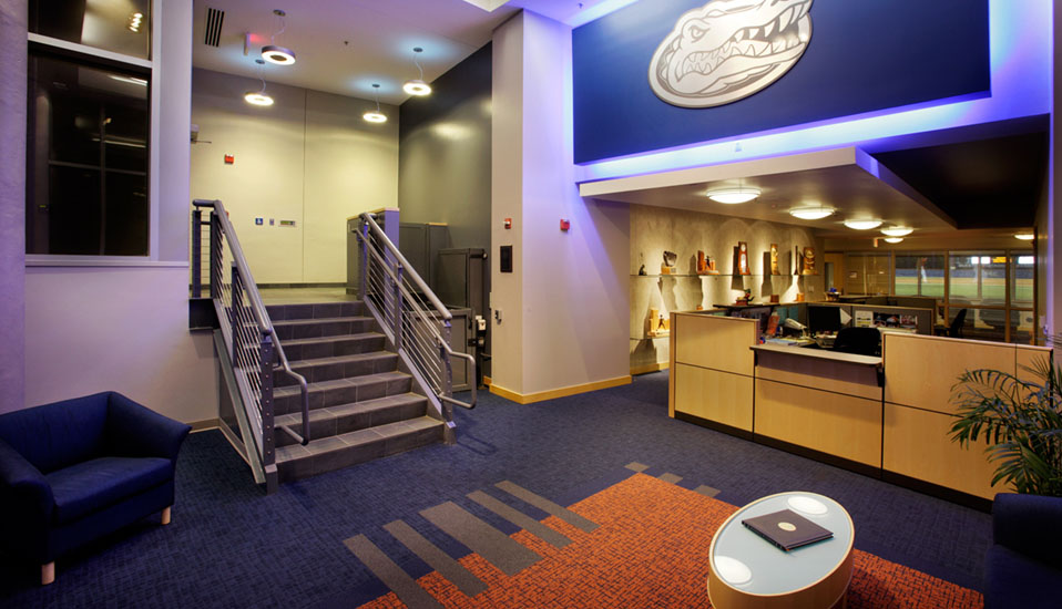 University of Florida Baseball Locker Room Facility Lemerand