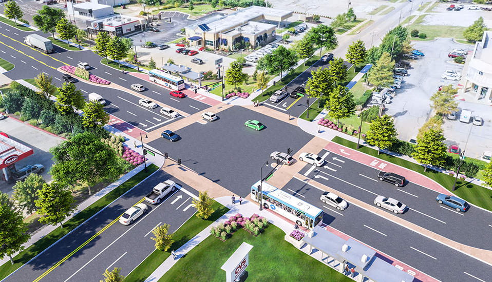 Fayetteville Township Intersection Rendering