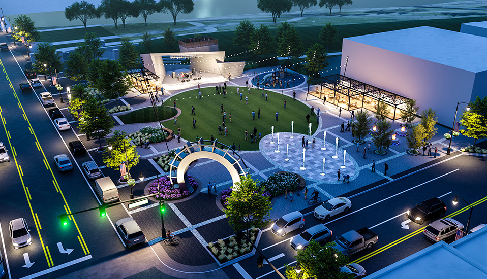 Grand Forks Town Square Rendering