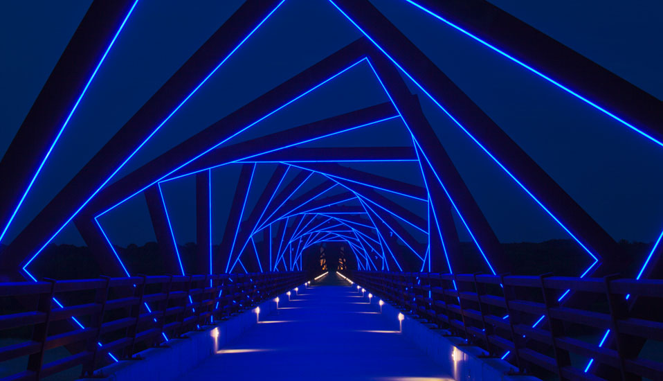From Here to There: High Trestle Trail Bridge Public Art - Madrid, IA