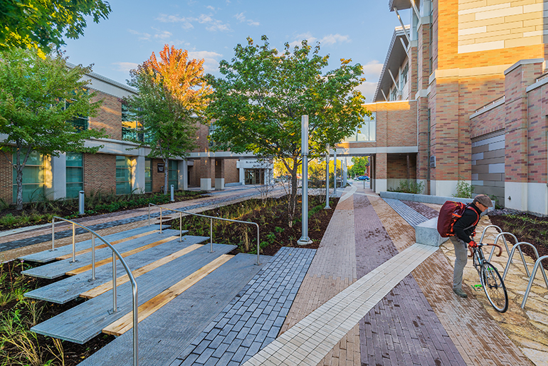 The New Courtyard And Site Design Integrates Functional And Beautiful  Pathways For Students, Faculty, Staff And Other Community Members,  Connecting Them To ...
